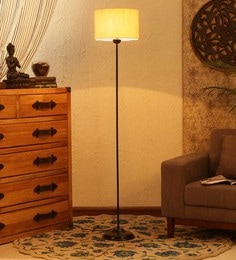Contemporary lamps buy modern floor lamps online in india best off white cotton floor lamp aloadofball Images