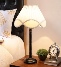 Off White Cotton Table Lamp By New Era - 1672699