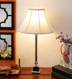 Off White Cotton Table Lamp - 1612171