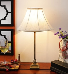 Off White Cotton Table Lamp - 1612188