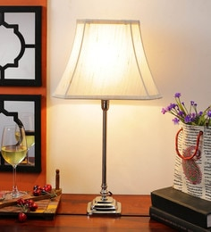 Off White Cotton Table Lamp - 1612175