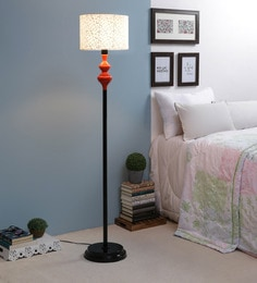Off White Fabric Floor Lamp - 1693598