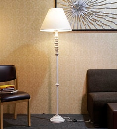 Off White Fabric Floor Lamp - 1690782
