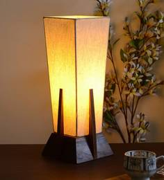 Buy contemporary table lamps online in india best prices pepperfry off white fabric table lamp aloadofball Image collections