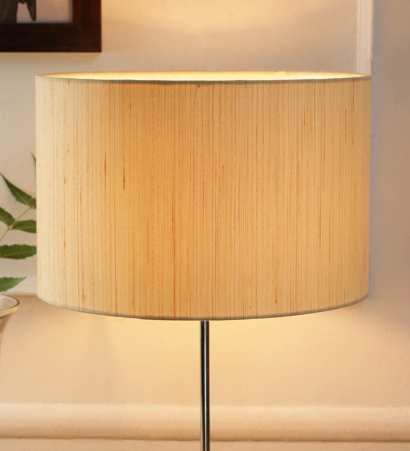 Off White Cotton and Stiffener Lamp Shade by New Era