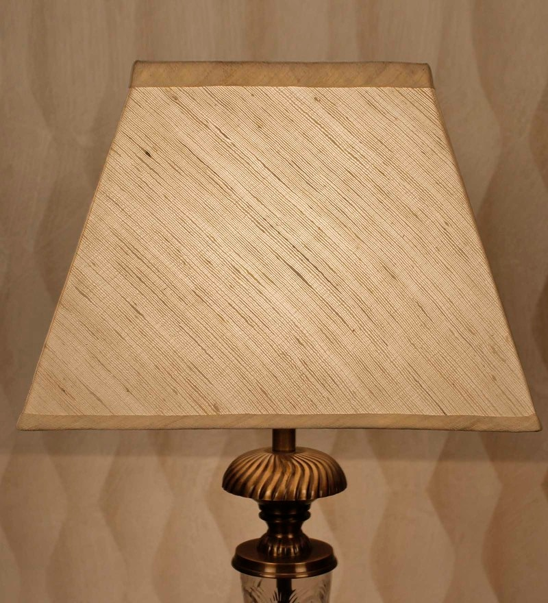 Buy light yellow acrylic fused with tusser silk cloth floor lamp off white natural raw silk lamp shade by kapoor e illuminations aloadofball Image collections