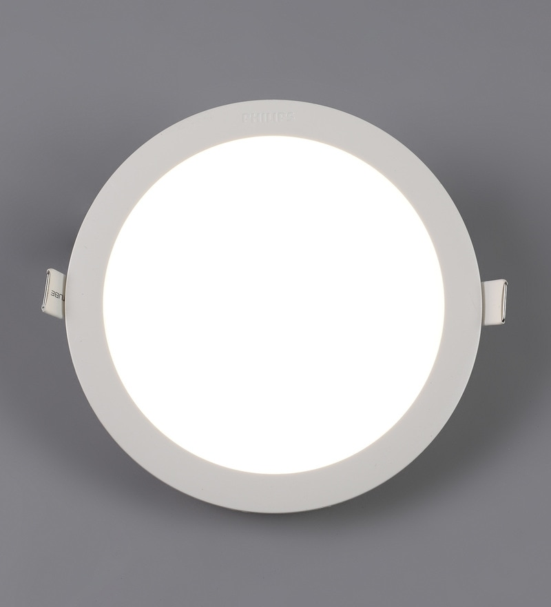 Off White Plastic Astra Prime 15 W Recessed Ceiling Light by Philips