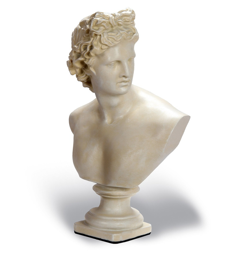 Off White Resin Marble Finish David Figurine by V Decor