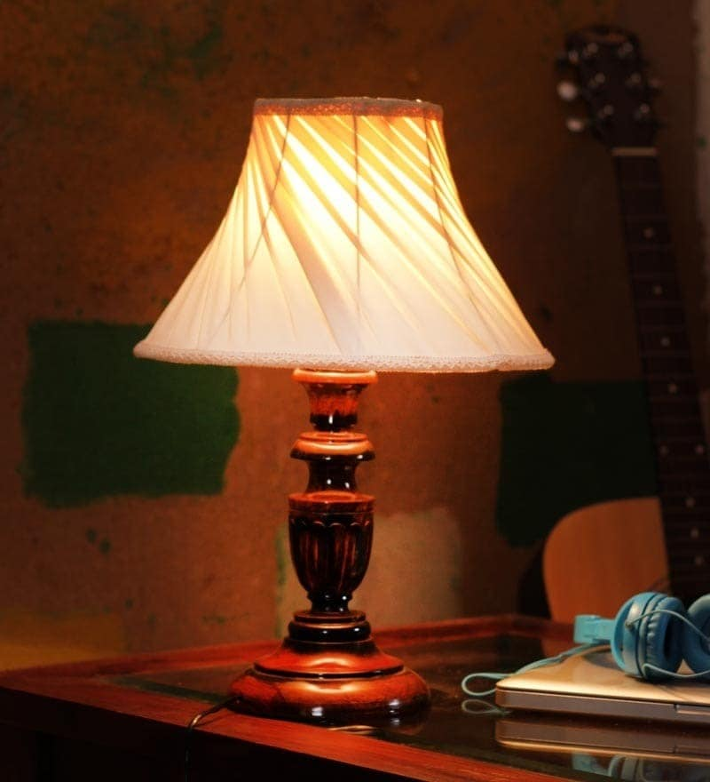 Buy Khadi Wood Table Lamp By The Light House Online Colonial Table