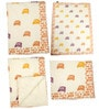 Offwhite Rickshaw Print Baby Quilt in White Colour by Cocobee
