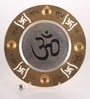 Gold & Silver Plated Stainless Steel Om Pooja Plate by Ojas