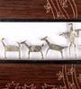 Olha-O Brown Wood & Wrought Iron Animal Held Frame