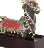 Olha-O Multicolour Metal Nandi Sitting Showpiece