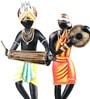 Olha-O Multicolour Wood & Wrought Iron Curve Tribal Dance Figurine