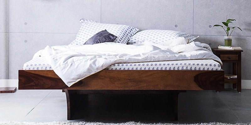 Omaha Queen Bed in Provincial Teak Finish by Woodsworth