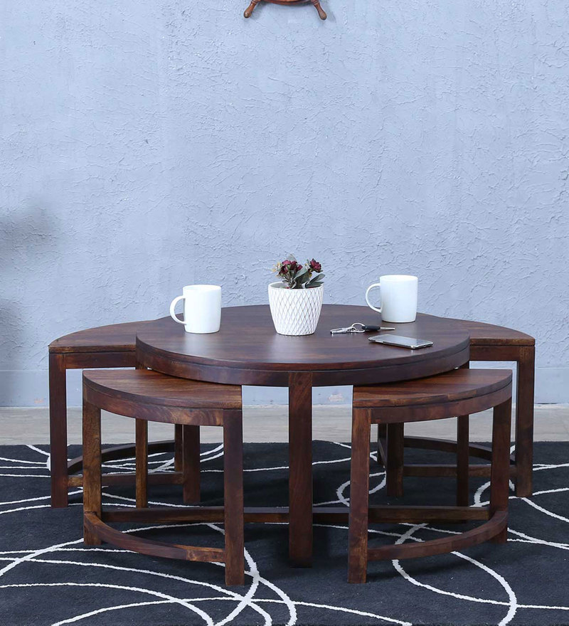 Omaha Coffee Table Set in Provincial Teak Finish by Woodsworth