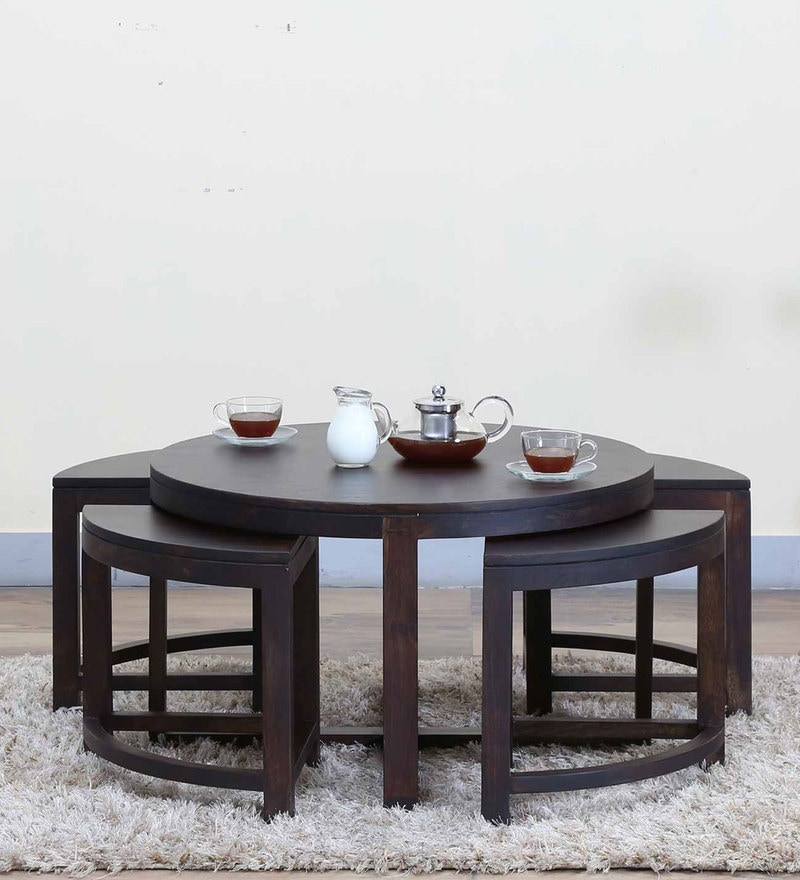 Omaha Coffee Table Set in Warm Chestnut Finish by Woodsworth