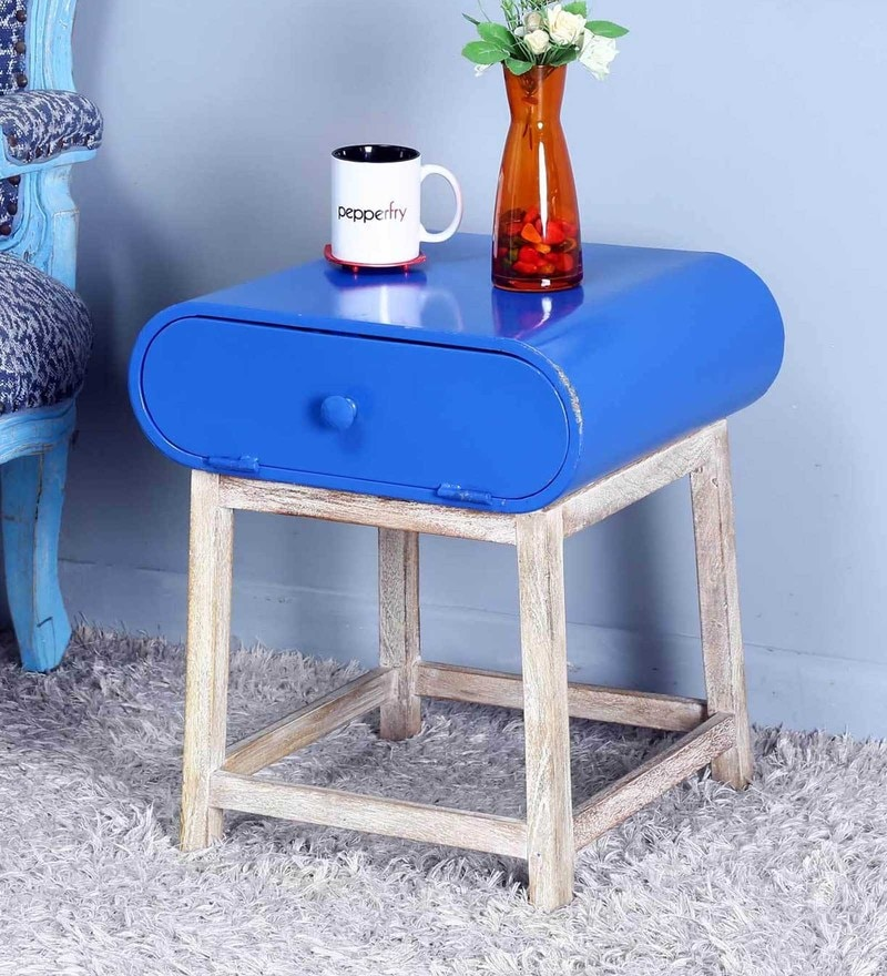 Oneya End Table in Blue Color by Bohemiana