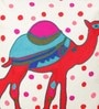 Blue & Red Cotton 16 x 16 Inch Dessert Safari Cushion Cover by One Good Thing