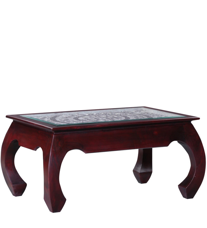 Buy opium coffee table in passion mahogany finish by - Vaisselle table passion ...