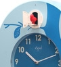 Blue ABS 12.5 Inch Round Hourly Bird Sound Cuckoo Clocks by Opal