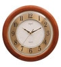 Brown Wooden 15 Inch Round Designer Wall Clock by Opal