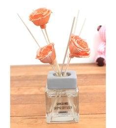 Orange With Thai Rose Flower In Reed Sticks Diffuser