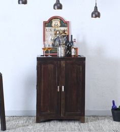 Oriel Bar Cabinet In Warm Chestnut Finish
