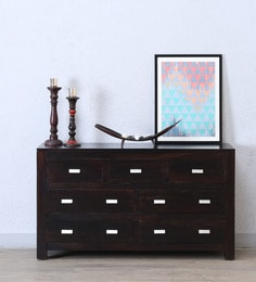 Oriel Chest Of Seven Drawers In Warm Chestnut Finish