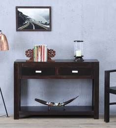 Oriel Console Table In Warm Chestnut Finish