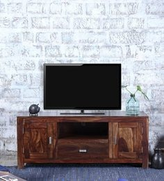 Oriel Two Door  Entertainment Unit In Provincial Teak Finish