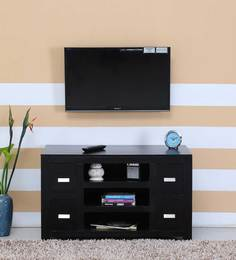 Oriel Four Drawer Entertainment Unit In Warm Chestnut Finish