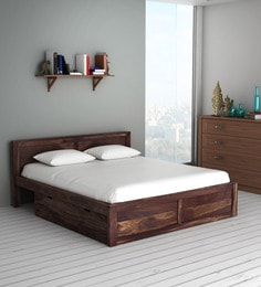 a7a0090089 Oriel Solid Wood King Size Bed with Two Drawer Storage in Provincial Teak  Finish ...