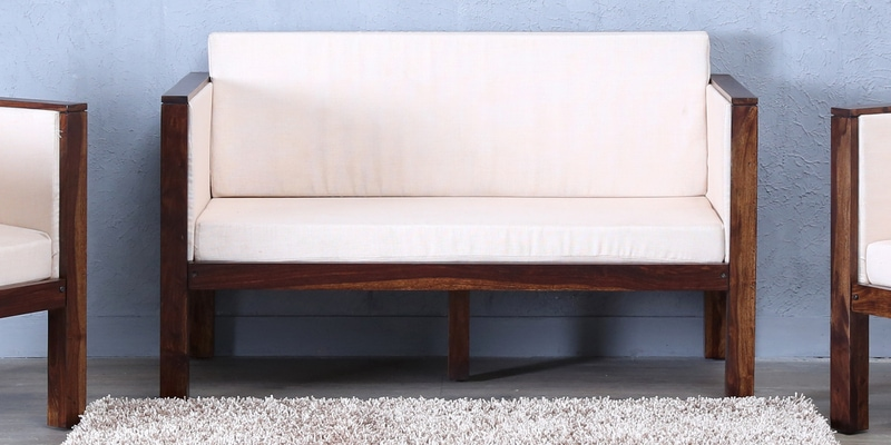 Oriel Two Seater Sofa in Provincial Teak Finish by Woodsworth
