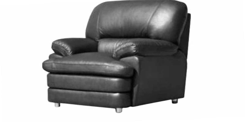 Orleans One Seater Leather Sofa In Black Colour By Godrej Interio By Godrej Interio Online One