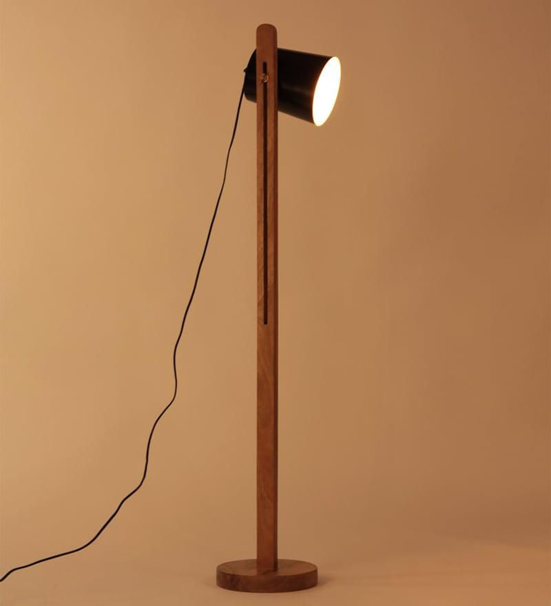 Black Iron Java Floor Lamp by Orange Tree