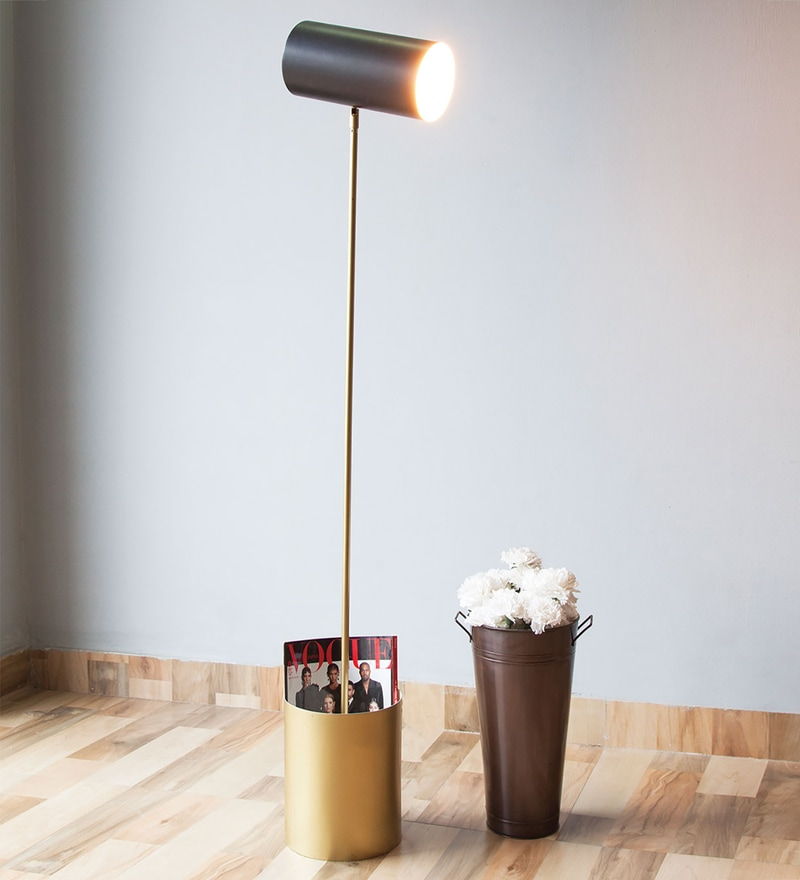 Black Iron Midas Floor Lamp by Orange Tree