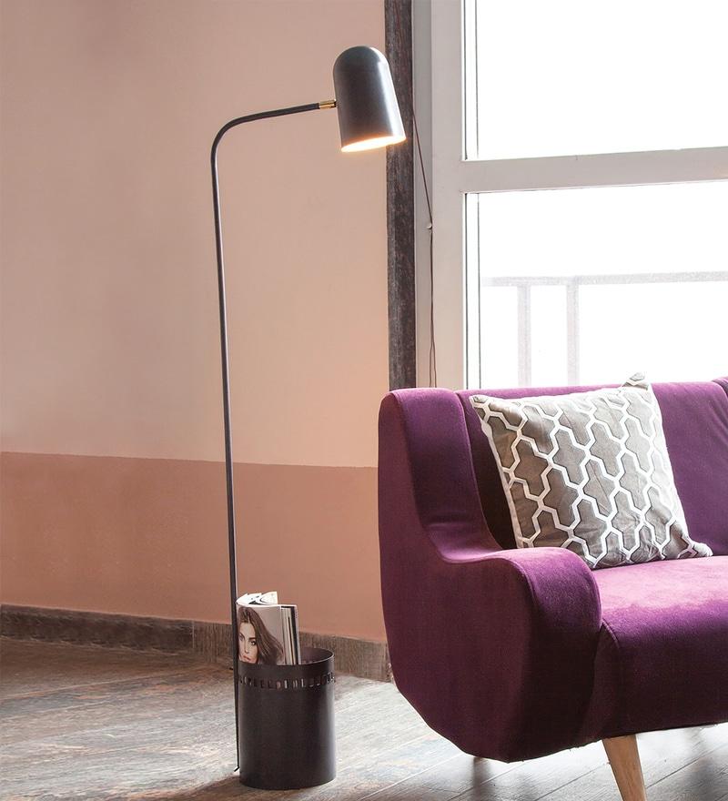 Grey Iron Dalai Floor Lamp by Orange Tree