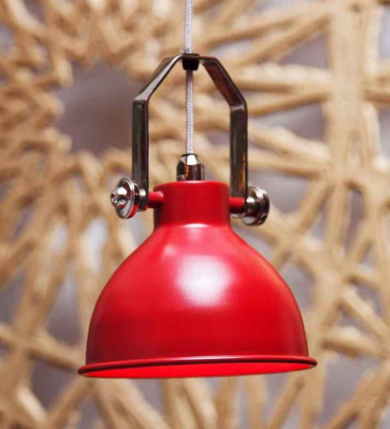 Red Aluminium Brunch Red Hanging Lamp by Orange Tree