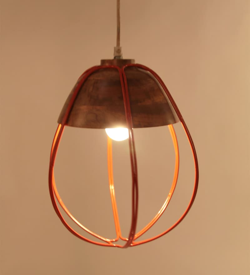 Red Iron Gerd Hanging Lamp by Orange Tree
