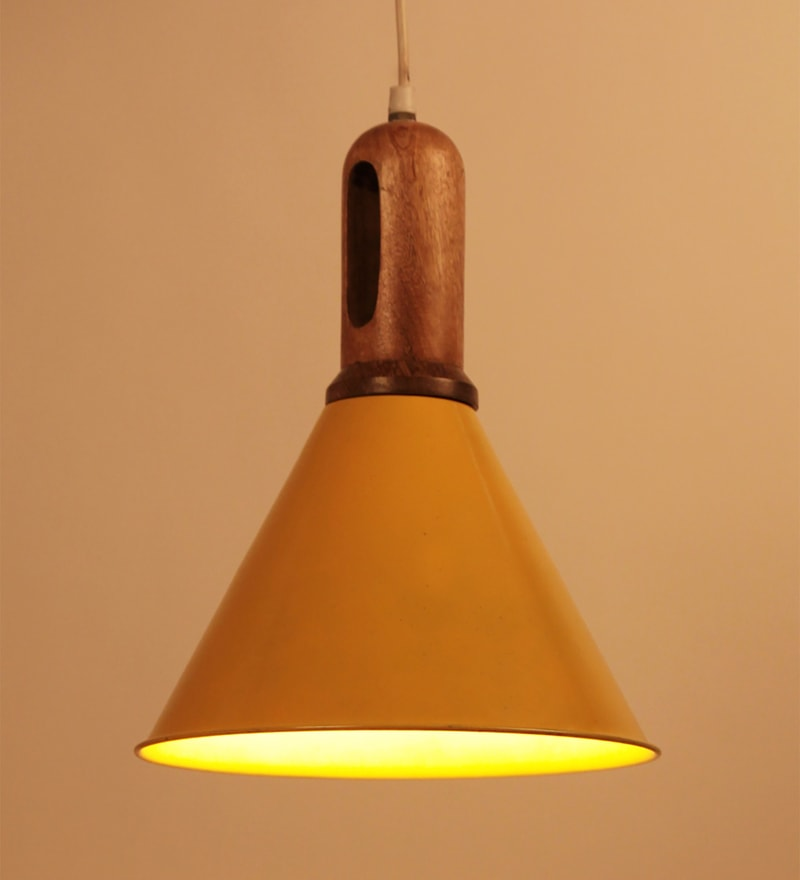 Yellow Iron Aeron Hanging Lamp by Orange Tree