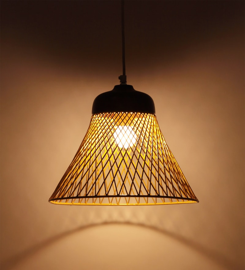 Buy Yellow Iron Netta Hanging Lamp By Orange Tree Online