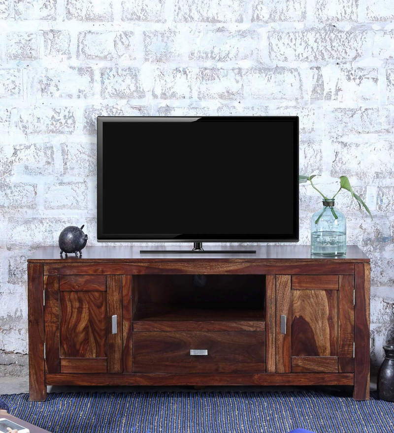 Oriel Two Door  Entertainment Unit in Provincial Teak Finish by Woodsworth