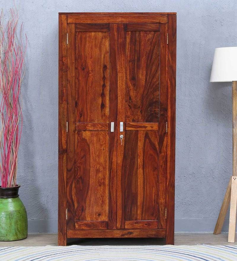 Oriel Wardrobe in Honey oak Finish by Woodsworth