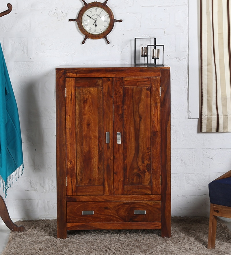 Oriel Small Wardrobe in Honey oak Finish by Woodsworth