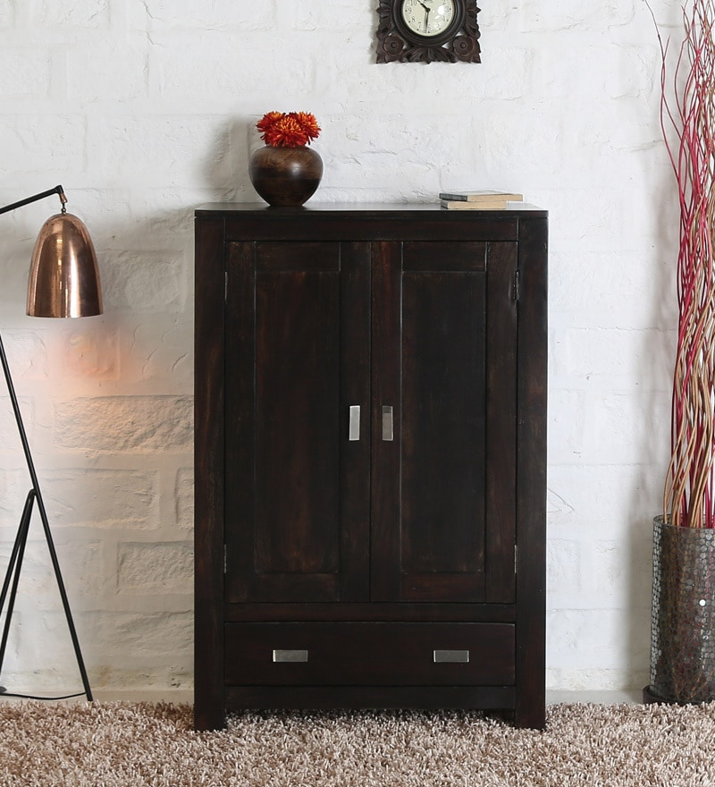 Oriel Small Wardrobe in Warm Chestnut Finish by Woodsworth