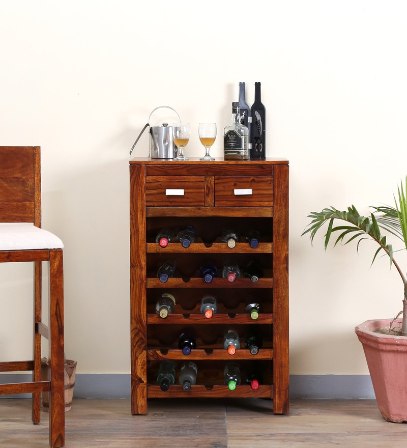 Oriel Wine Rack in Honey oak Finish by Woodsworth