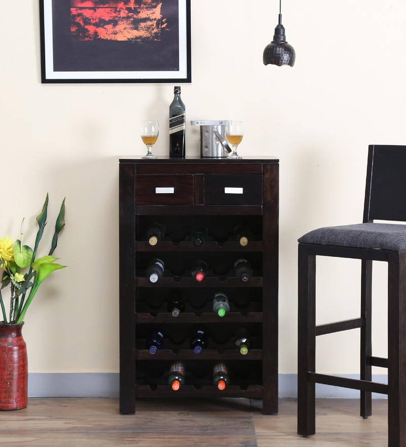 Oriel Wine Rack in Warm Chestnut Finish by Woodsworth