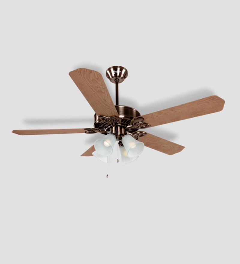 Buy orient subaris motor antique copper ceiling fan with light orient electric subaris 1300 mm antique copper oakwood ceiling fan aloadofball Gallery