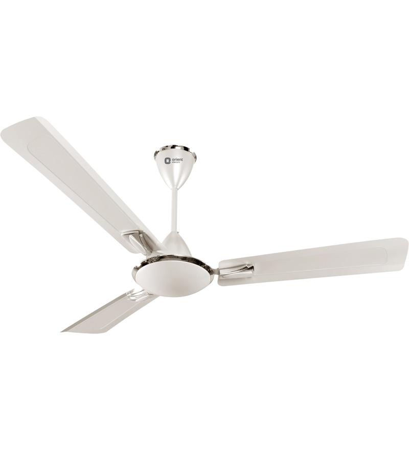Orient Gratia 900 mm Pearl Metallic White Ceiling Fan
